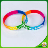 Les meilleures ventes ont segmenté le bracelet fait sur commande de silicones de logo de bracelet en caoutchouc coloré