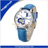 OEM&ODM het Horloge van Antomatic van het ontwerp met de Echte Band van het Leer