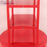 赤い粉によって塗られる金属の床シリンダー陳列だな甘いキャンデーの立場を現れなさい