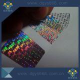 Holograma personalizado invalidar a garantia à prova de adulteração Adesivo de Segurança