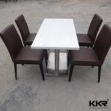 Quadrado Branco Carrara Superfície sólida Pedra Conjuntos de mesa de café