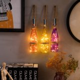 Il sughero delle bottiglie di vino illumina le lampadine del collegare di rame 20 LED degli indicatori luminosi della stringa del collegare di rame per la bottiglia DIY, il natale, la cerimonia nuziale ed il partito