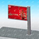 Material del metal que hace publicidad de la cartelera al aire libre