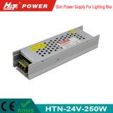 alimentazione elettrica di 24V 10A LED con le Htn-Serie della Banca dei Regolamenti Internazionali di RoHS del Ce