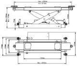 Hydraulique à quatre Post voiture Jack de levage de 2 tonnes (J6A)