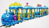 遊園地のための海の世界の電車の子供の乗車