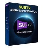 L'IPTV Smart Subtv IPTV 5000 IPTV Package avec Ex-Yu/Inde/Turquie/Albanie/Portugal/Bulgare/France/arabe/Allemagne/Italie/UK canaux