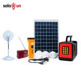 Paygの球根が付いている再充電可能な太陽電池パネルのホームシステム