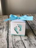 Los pies del bebé Baby Shower cajas con cinta de opciones