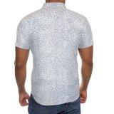 Mens는 소매 단추 폴로 옥스포드 적당한 짧은 셔츠를 아래로 체중을 줄인다