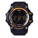 Smart militar Mens Watch Bluetooth Ex16 Deportes recordatorio SMS impermeable reloj de pulsera