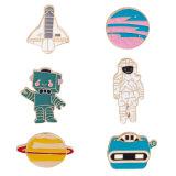 도매 금속 Pin 주문 우주인 단단한 사기질 Pin