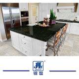 台所カウンタートップの虚栄心の上のためのVerde自然な磨かれたUbatubaの深緑色の花こう岩か平板またはタイルまたは床タイルまたは島のテーブルの上または舗装