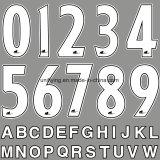 熱伝達の印刷はジャージー番号を遊ばし、卸し業者に文字を入れる