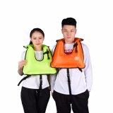 Zwemmende Apparatuur van het Reddingsvest van het Vest van het Drijfvermogen van kinderen de Draagbare Snorkelende Opblaasbare, Grootte: 510*400mm (Sinaasappel)