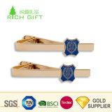 中国の卸し売り習慣は浮彫りにされた3Dロゴの人のタイクリップを押す金属の黄銅を個人化した