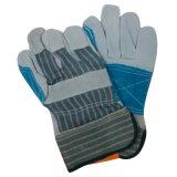 De versterkte Handschoenen van het Werk van het Leer van de AntiKoe van de Schuring van de Palm Gespleten met Goedgekeurd Ce