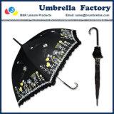 Signora Umbrella di modo con la maniglia lunga dell'amo 23 pollici