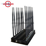 16 potente Antena GPS Bluetooth VHF y UHF de la señal de teléfono móvil 2G Jammer, ajustable 42W potente Wireless Bug Jammer Cámara bloqueador GPS Wifi Jammer