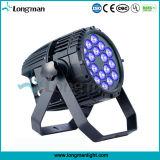 Lumière noire UV extérieure de la lumière DEL de PARITÉ de la haute énergie 18X10W