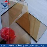Het euro Glas van de Vlotter van het Brons Weerspiegelende voor Schuifdeur Frameless