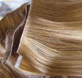 100% 사람의 모발 Virgin 머리를 가진 편평한 테이프 머리 연장