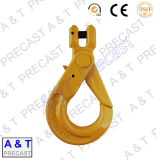 炭素鋼またはステンレス鋼の吊り鎖のラッチが付いているホック/G80目の起重機のホック