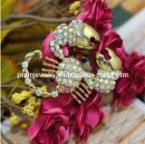 La joyería de moda de primavera/ colorida Rhinestones Scorpion tachonado Ab Broche de piedras preciosas de color para las mujeres chapado en aleación de zinc con muebles antiguos de cobre (PBr-006)