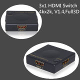 3X1 Comutador HDMI switcher HDMI V1.4 4Kx2K 3D completo ideal para Home Theater