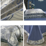 Sateen Cotton Blue Jacquard Quilt Cover Sets