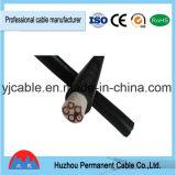 Bas câble d'alimentation non blindé isolé par PVC de tension
