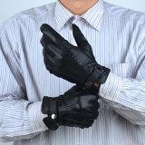 Men alla moda Sheepskin Genuine Leather Gloves con Wool Lining