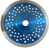 Lâmina de corte de diamante do segmento Turbo com flange e furos silenciosos (JL-TDBFS)