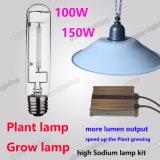 고압 나트륨 램프 100W 150W 플랜트 성장하고 있는 램프