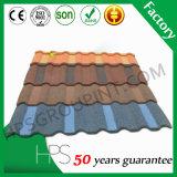 Matériau de construction coloré de tuiles de toit en métal enduit en pierre couvrant la vente chaude au Ghana