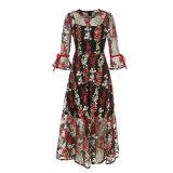 Bordado de lujo de las mujeres vestido de noche