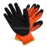Aislar el guante del trabajo de la seguridad del invierno de los guantes de la capa del látex del trazador de líneas del panal