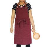 Logo de toile de coutume de tablier de bavoir de chef durable de service de la meilleure qualité de qualité
