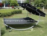 ユニバーサル車輪が付いている日よけの鉄骨フレームの倍のハンモックの椅子