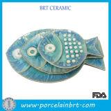 De ceramische Decoratieve Verdeelde Plaat van het Diner van het Porselein Witte Gepersonaliseerde Gezonde Dessert
