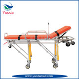 Alumínio Alloy Automatic Loading Ambulance Stretcher
