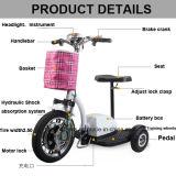 رخيصة سعر [هيغقوليتي] [فولدبل] كهربائيّة درّاجة ثلاثية حركيّة [سكوتر] مع [س]