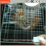 la glace de construction de sûreté de 3-19mm, glace de fil, glace feuilletante, configuration plate/a déplié les verres de sûreté Tempered pour le mur/frontière de sécurité/partition d'hôtel avec SGCC/Ce&CCC&ISO
