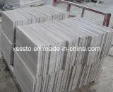 Tuiles de marbre en bois grises de prix concurrentiel polies