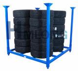 Racking portátil de empilhamento dobrável do pneu do metal da venda quente