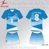 Healongの販売のための熱い販売の衣類の昇華生徒のフットボールのワイシャツ