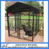 Jaula galvanizada resistente del perro de la perrera del perro del metal
