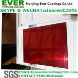 明確で赤い上塗りの粉のコーティング
