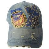Denim lavado pesado gorra de béisbol con el logotipo de Niza Gjwd1759