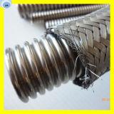 De metal conjunto de la manguera flexible con alambre de acero inoxidable de la trenza en la superficie de la manguera anular